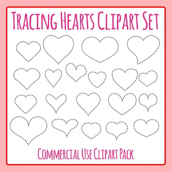 Tracing Valentines Heart Shapes for Fine Motor Control or to Cut Out