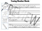Tracing Weather Words (Made for Austim)- Free
