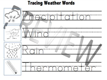 Tracing Weather Words (Made for Autism)- Full