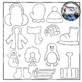 Tracing and Pinning Winter Clipart