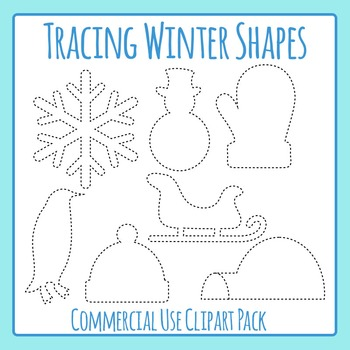 Tracing Winter Shapes for Fine Motor Control or to Cut Out