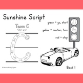 Tracing Workbook for Handwriting with Sunshine Script