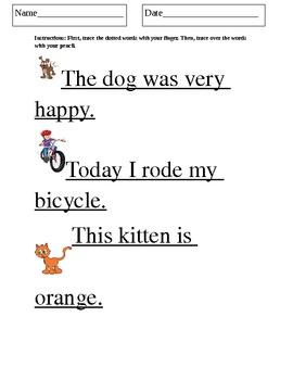 Tracing Worksheet!