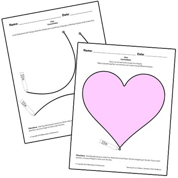Tracing Worksheet Drawing Curved Lines Visual Elements of Art