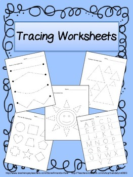 Tracing Worksheets for Fine Motor Skills