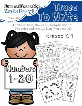Tracing & Writing Numbers 1-20