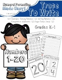 Tracing and Writing Numbers 1-20 (with Finger Trace Cards)