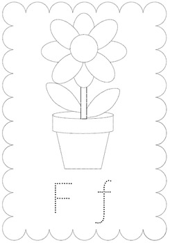 Tracing alphabet worksheets- Literacy, pre-writing, initial sounds