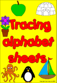 Tracing alphabet worksheets- Literacy, pre-writing, initia