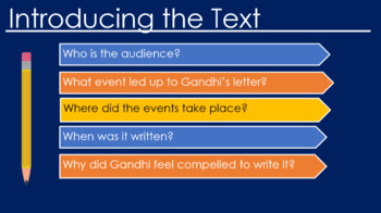 """Tracing an Argument using Gandhi's """"Letter to Viceroy, Lord Irwin"""""""