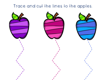 Tracing and Cutting through the year Practice Packet