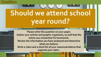 Tracing and Evaluating an Argument: Should we attend school year round?