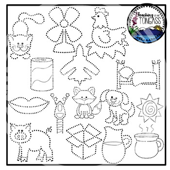 Tracing and Pinning CVC Words Clipart