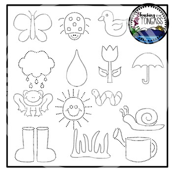 Tracing and Pinning Spring Clipart