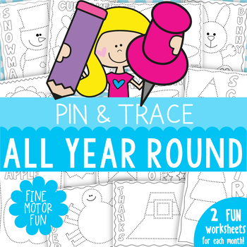 Fine Motor Activities {Trace and Pin All Year Round}