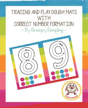 Tracing and Play dough Mats with Correct Number Formation