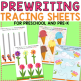 Tracing and Prewriting Worksheets for Preschool, Pre-K, Toddler