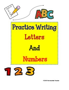Tracing and Writing Letters and Numbers
