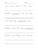 Tracing and Writing: My Friend Rabbit