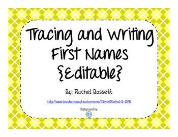 Tracing and Writing Names (Editable)