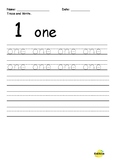 Tracing and Writing Number Words 1-10