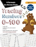 Tracing Numbers 1-100 | Writing Numbers 1-100 | Large Prin