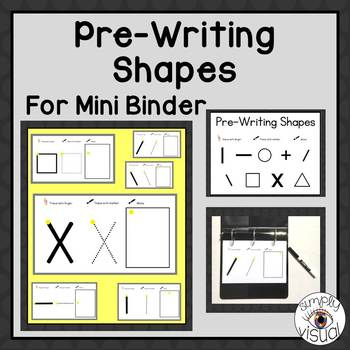 Pre-Writing Shapes for a Mini Binder