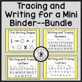 Tracing and Writing for a Mini Binder Bundle