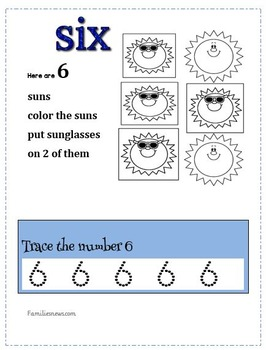 Tracing and writing numbers