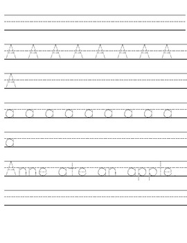 Tracing and writing pages A-Z (uppercase and lowercase)