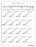 Montessori Tracing, approach cursive letters. A to Z
