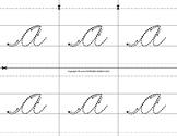 Montessori Tracing big cursive letters. Repeated. A to Z