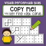 Dot to dot copy practice 3x3 design - key ring task cards