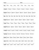 Tracing /ea/ /ee/ words