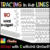 Tracing in the Lines Clip Art Set ❤️ Fine Motor