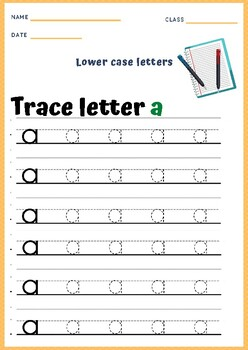 Alphabet - Lowercase Letter Tracing Worksheets by ...