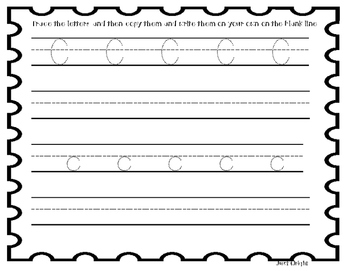 Tracing letters and numbers A-Z, 0-9, uppercase and lowercase, 42 page booklet