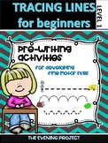 Tracing lines worksheets for Early childhood and Special E
