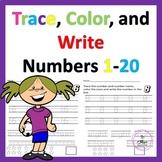 Number Sense 1-20, Tracing Numbers 1-20, Write Numbers