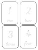 Tracing numbers 1-20 cursive font