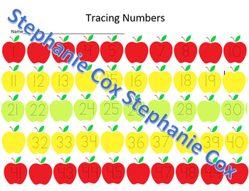 Tracing numbers 1-50 and find whats missing!