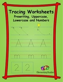 Tracing alphabets and numbers worksheets