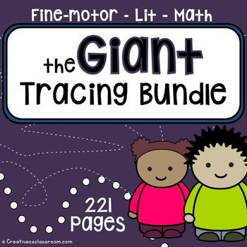 Tracing skill pre-writing practice {GIANT BUNDLE} literacy