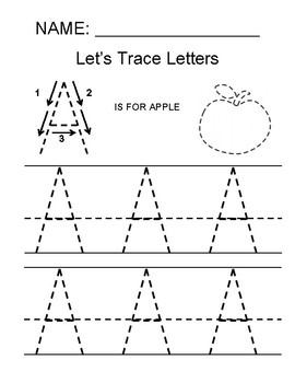 Tracing the Letter A