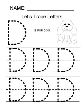 Tracing the Letter D