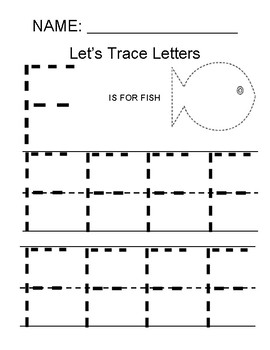 Trace Letter F Worksheets & Teaching Resources | TpT
