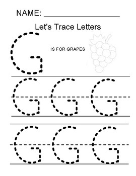 tracing the letter g by making math simple for all kids tpt. Black Bedroom Furniture Sets. Home Design Ideas
