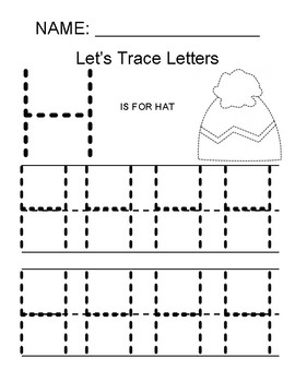 Tracing the Letter H