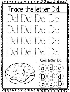 Tracing the alphabet worksheets:  handwriting practice