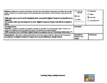 Tracing your Digital Footprint Lesson Plan